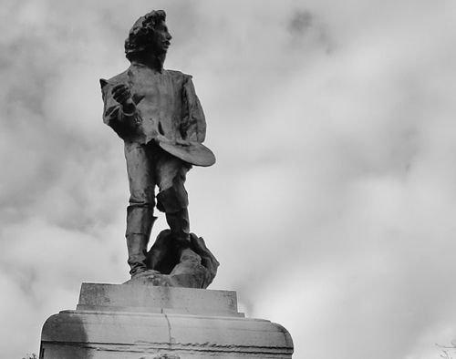 Ville de Nancy - Statue de Claude Gellée par Rodin à la Pépinière