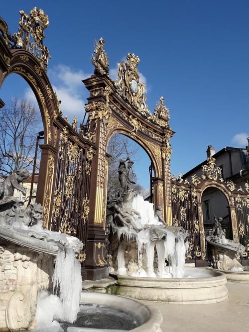 Ville de Nancy - Fontaines gelées