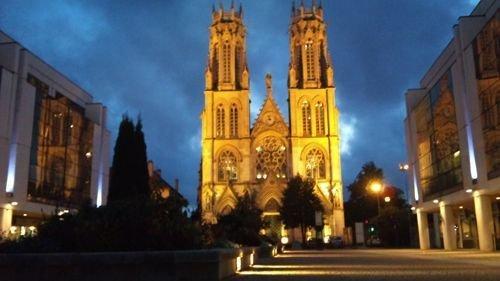 Ville de Nancy Eglise Saint-Léon de nuit