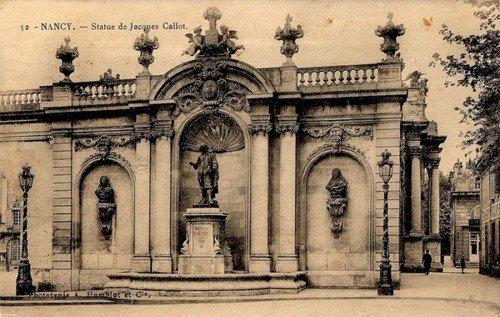 Ville de Nancy - Carte postale de la statue de Jacques Callot