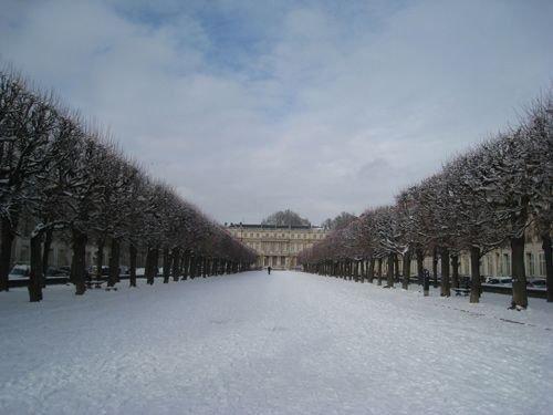 Ville de Nancy sous la neige - Place Carrière
