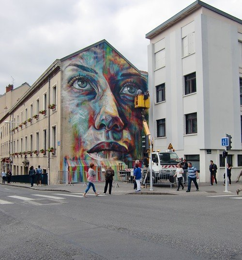 Ville de Nancy -  Fresque murale de David Walker