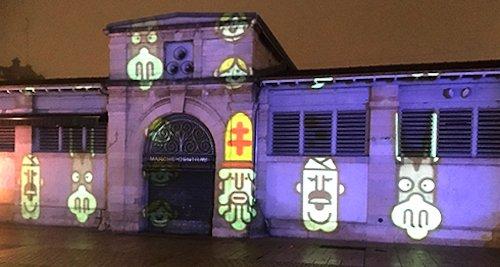 Ville de Nancy - Projection sur le marché couvert