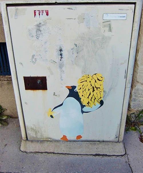 Ville de Nancy - Street art en mode pingouin