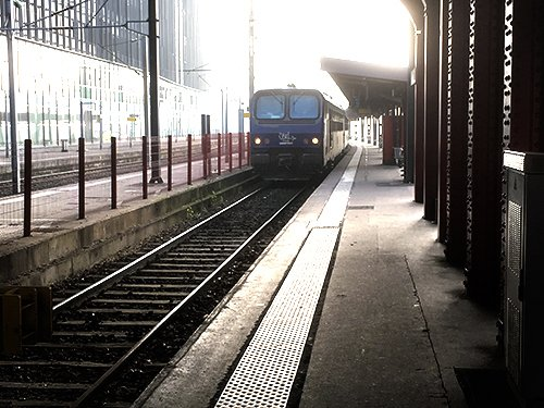 Ville de Nancy - Train en gare