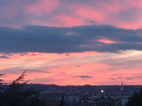 Ville de Nancy - Ciel de janvier au dessus de la ville