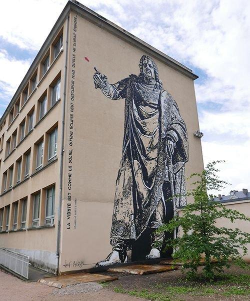 Ville de Nancy - Jef Aérosol peint Stanislas
