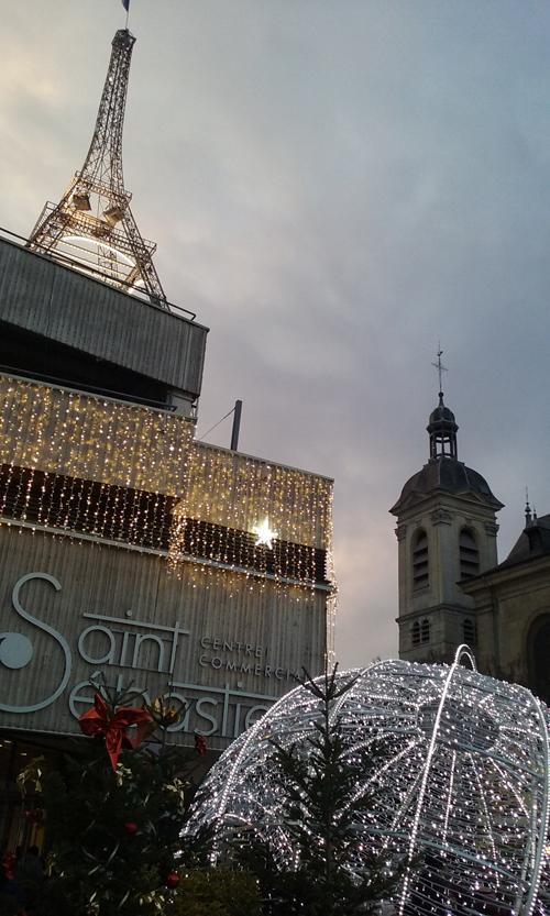 Ville de Nancy - Saint-Sebastien et sa Tour Eiffel