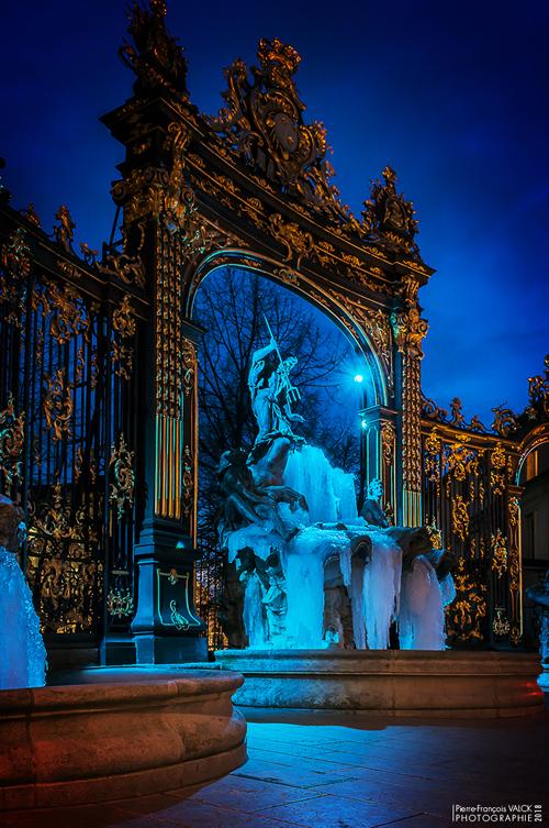 Ville de Nancy - L'heure bleue de Neptune
