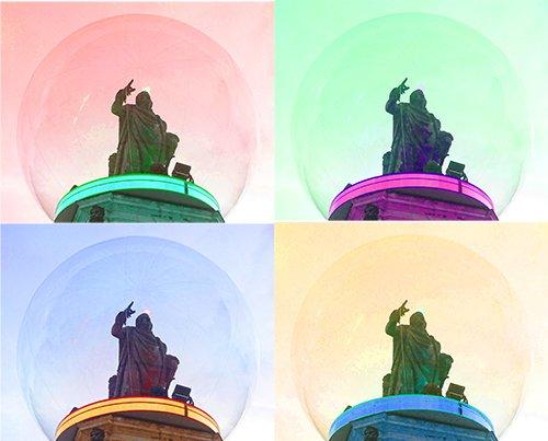 Ville de Nancy - Statue de Stanislas PopArt