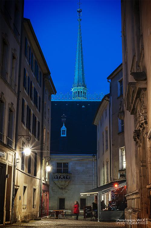 Ville de Nancy - Flèche du Palais depuis la rue Saint-Michel