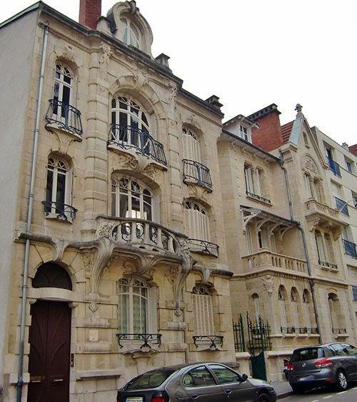 Ville de Nancy - Maison de l'entrepreneur Eugène Mangon par l'architecte Paul Charbonnier.