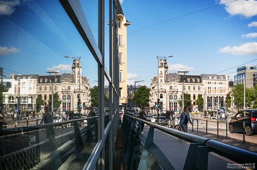 Ville de Nancy - Reflet du pont de la gare