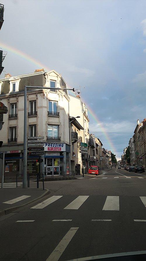 Ville de Nancy - Arc-en-ciel sur la ville