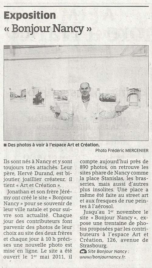 Ville de Nancy - Exposition Bonjour Nancy