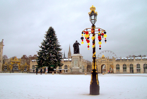 Ville de Nancy - Place Stan sous la neige