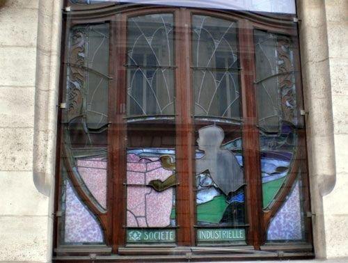 Ville de nancy vitrail de la chambre de commerce et d for Chambre de commerce de nancy
