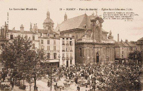 Ville de Nancy - Carte postale de la palce du marché