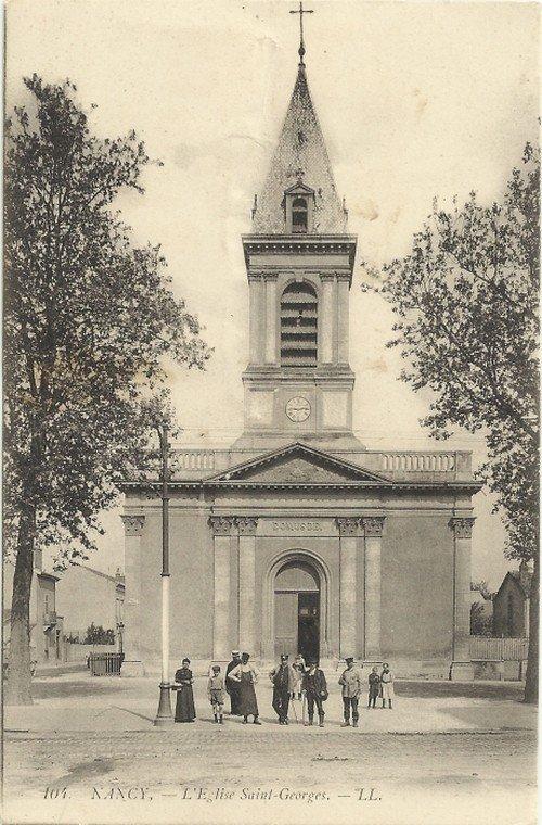 Ville de Nancy - Carte postalede l'église Saint-Georges
