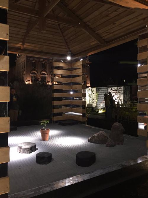 Ville de Nancy - Jardin ephémère 2018 de nuit - Japonica