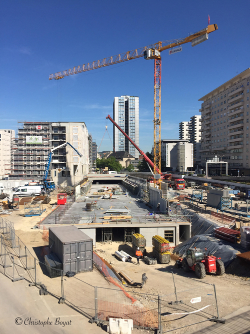 Ville de Nancy - Quartier de la gare en travaux
