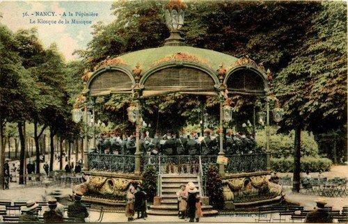 Ville de Nancy - Carte postale du Kiosque de la pépinière