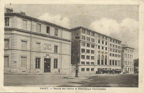 Ville de Nancy - Carte postale de la faculté de Lettres