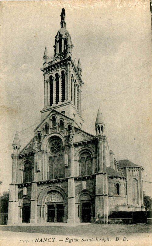 Ville de Nancy - Carte de postale de l'église Saint-Joseph