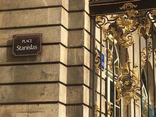 Ville de Nancy - Plaque place Stanislas