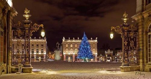 Ville de Nancy Place Stanislas sous la neige