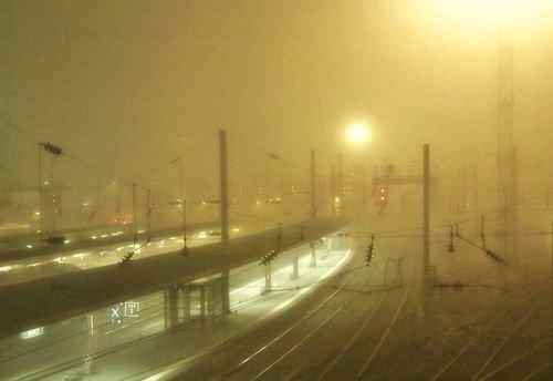 Ville de Nancy - Gare de Nancy dans le brouillard