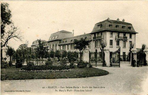 Ville de Nancy - Carte postale de l'école des Beaux-Arts
