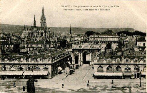 Ville de Nancy - Carte postale vue depuis l'Hotêl de ville