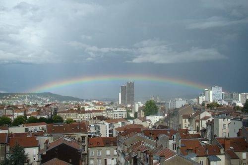 VIlle de Nancy - Arc en-ciel sur la ville