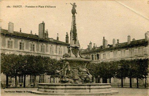 Ville de Nancy - Carte postale de la place d'Alliance