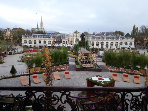 Ville de Nancy - Jardin ephémère 2018 vu du balcon de l'hôtel de ville