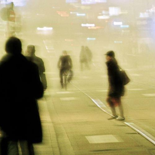 Ville de Nancy - Rue Saint-Jean dans le brouillard