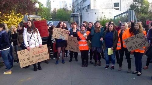 Ville de Nancy -  L'IRTS de Lorraine en grève