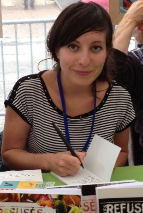 Ville de Nancy - Elise Jadelot,  auteur d'Au commencement était le verbe au Livre sur la place 2013