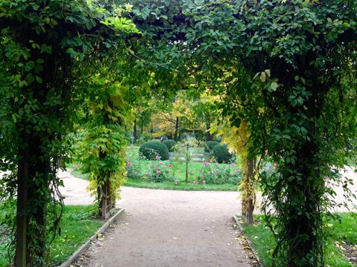 Ville de Nancy - L'entrée de la roseraie