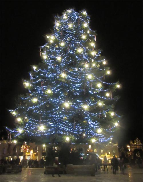 Ville de Nancy - Sapin de Noël de nuit