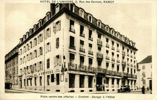 Ville de Nancy - Carte postale de l'hôtel de l'Univers