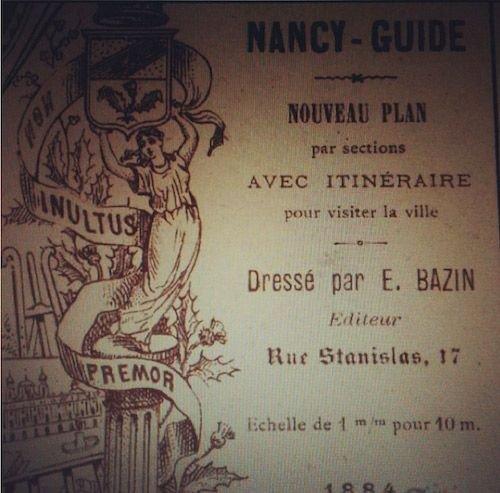 Ville de Nancy - Plan par E.Bazin en 1884