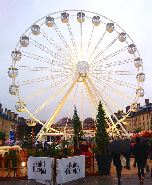 Ville de  Nancy - Grande roue place de la Carrière Noël 2018
