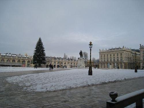 Ville de Nancy sous la neige - Place Stanislas