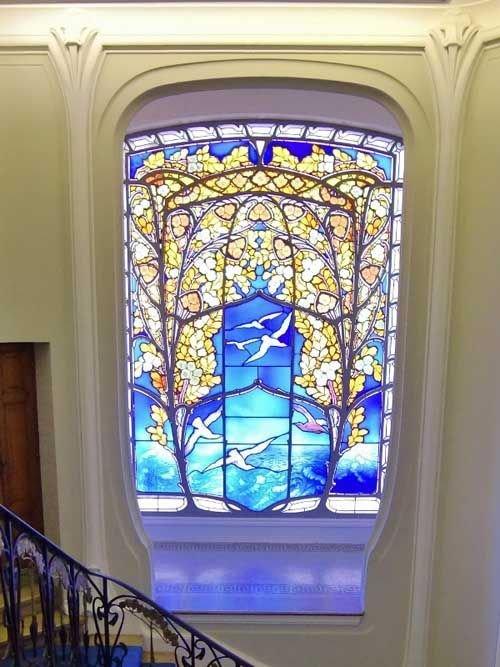 Ville de Nancy - Villa Bergeret vitrail Gruber