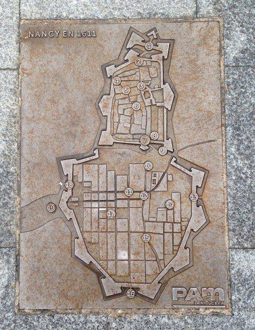 Ville de Nancy - Nancy en 1611