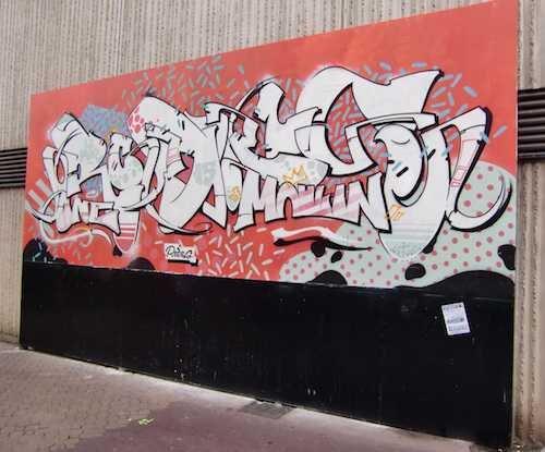Ville de Nancy - Le mur, par Rodes