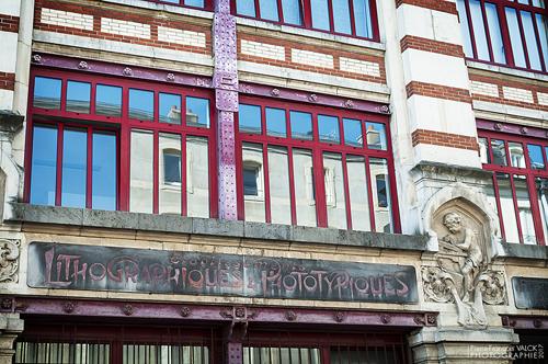 Ville de Nancy - Ancienne devanture d'Imprimerie