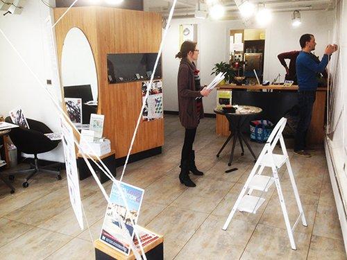 Bonjour Nancy - L'exposition des 5 ans, l'accrochage